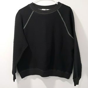 Black Wildfox Cropped Sweatshirt